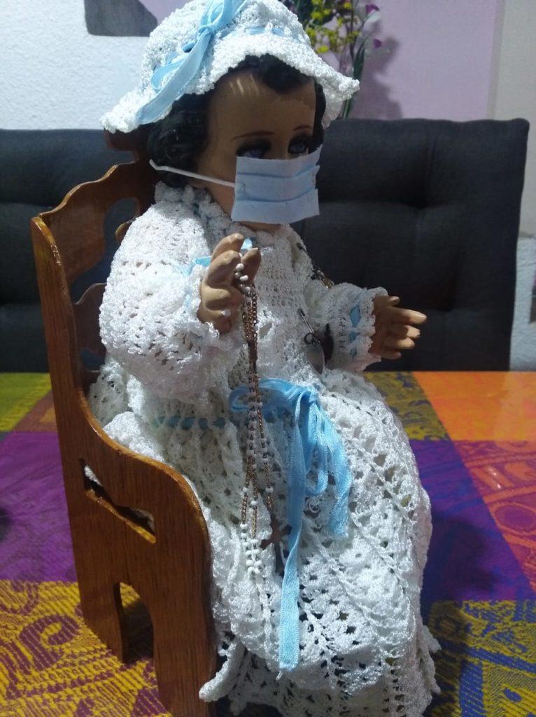 Vistió al Niño Dios con la devoción de que termine la pandemia detrás del tule noticias tulancingo